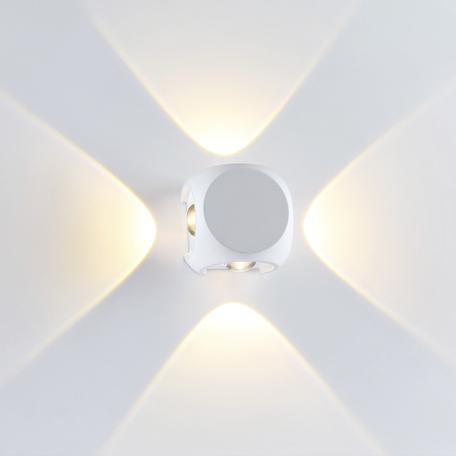 Настенный светодиодный светильник Odeon Light Hightech Miko 4221/8WL, IP54, LED 4W 3200K 732lm, белый, металл