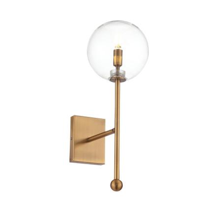Бра ST Luce Sandro SL1205.301.01, 1xG9x40W, матовое золото, прозрачный, металл, стекло