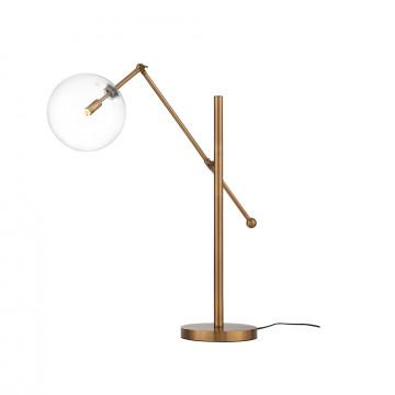 Настольная лампа ST Luce Sandro SL1205.304.01, 1xG9x40W, матовое золото, прозрачный, металл, стекло