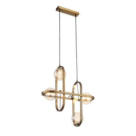 Подвесная люстра ST Luce Circono SL1201.203.04, 4xG9x28W, бронза, коньячный, металл, стекло
