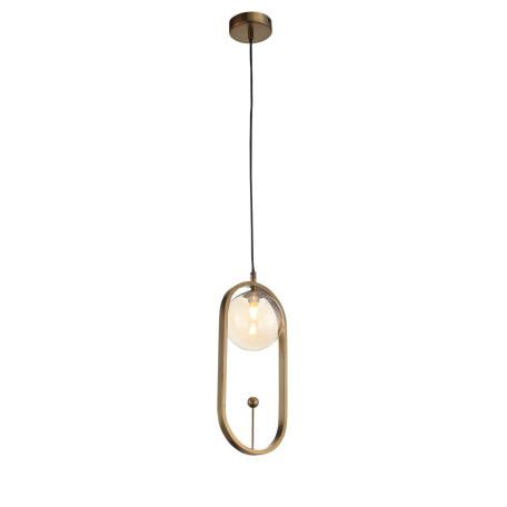 Подвесной светильник ST Luce Circono SL1201.203.01, 1xG9x28W, бронза, коньячный, металл, стекло