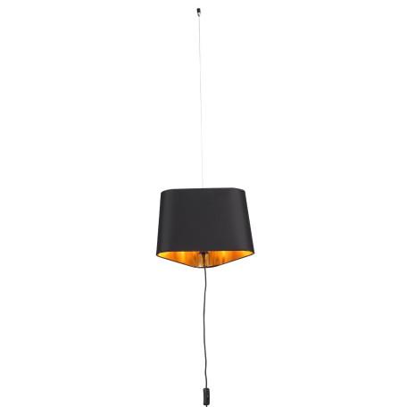 Подвесной светильник-торшер ST Luce Ambrela SL1110.413.01, 1xE27x40W, черный, металл, текстиль