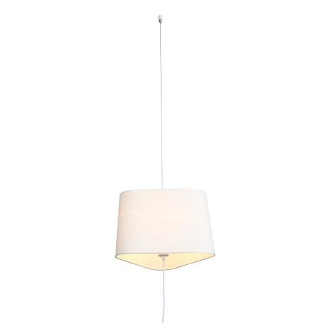 Подвесной светильник-торшер ST Luce Ambrela SL1110.513.01, 1xE27x40W, белый, металл, текстиль