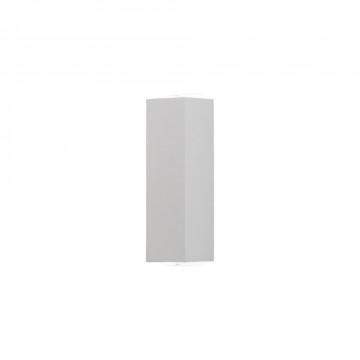 Настенный светодиодный светильник Nowodvorski Lens LED 9113, IP54, LED 4W 3000K 110lm, белый, металл