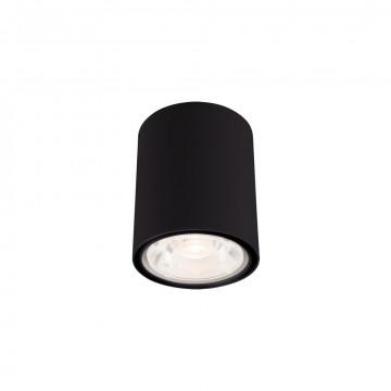 Потолочный светодиодный светильник Nowodvorski Edesa LED 9107, IP54, LED 6W 3000K 370lm, черный, металл