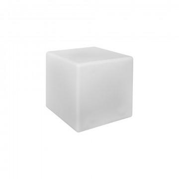 Садовый светильник Nowodvorski Cumulus Cube 8966, IP44, 1xE27x60W, белый, пластик