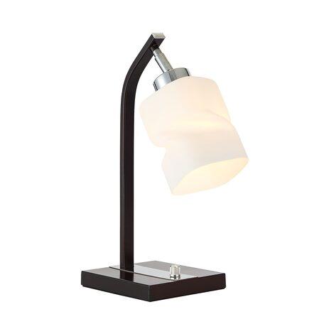 Настольная лампа Citilux Берта CL126812, 1xE27x75W, венге, белый, металл, стекло