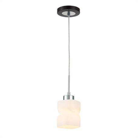 Подвесной светильник Citilux Берта CL126112, 1xE27x75W, венге, белый, металл, стекло