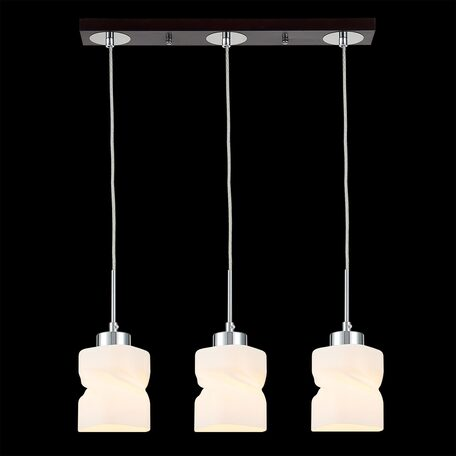 Подвесной светильник Citilux Берта CL126232, 3xE27x75W, венге, белый, металл, стекло