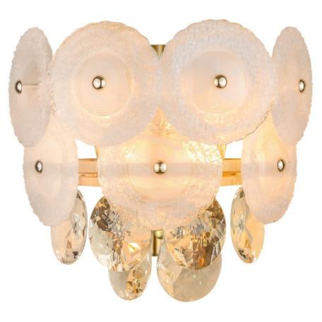 Настенный светильник L'Arte Luce Luxury Fiocco L36922, 2xE14x60W, металл, стекло, хрусталь