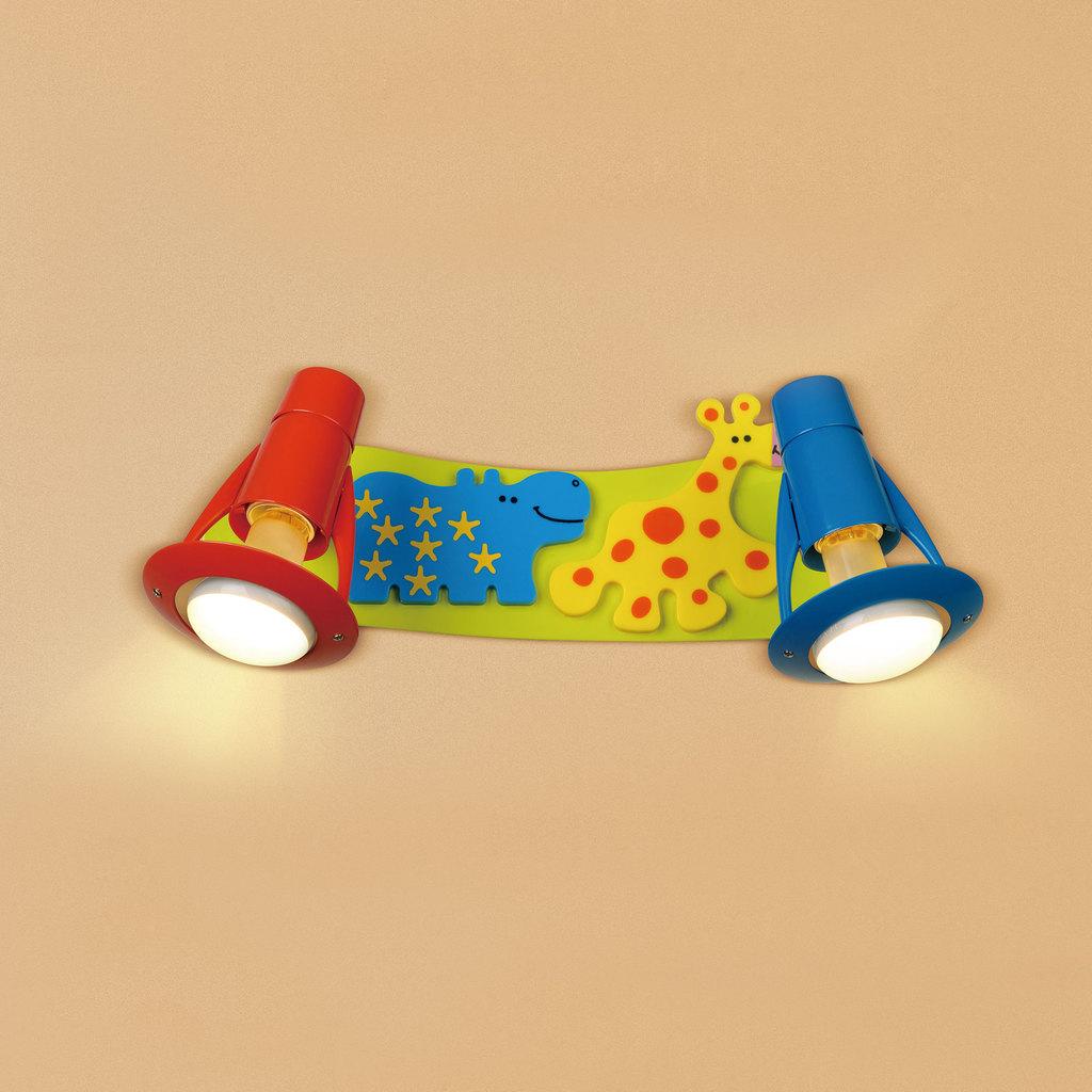 Настенный светильник с регулировкой направления света Citilux Зоопарк CL602521, 2xE14x60W, разноцветный, металл - фото 1