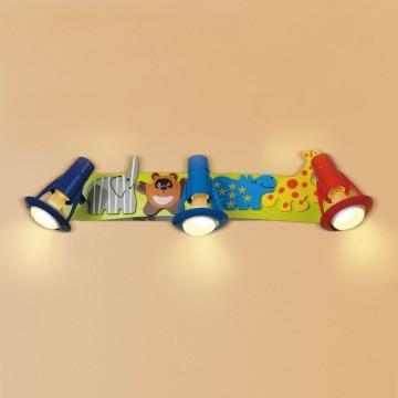 Настенный светильник с регулировкой направления света Citilux Зоопарк CL602531, 3xE14x60W, разноцветный, металл