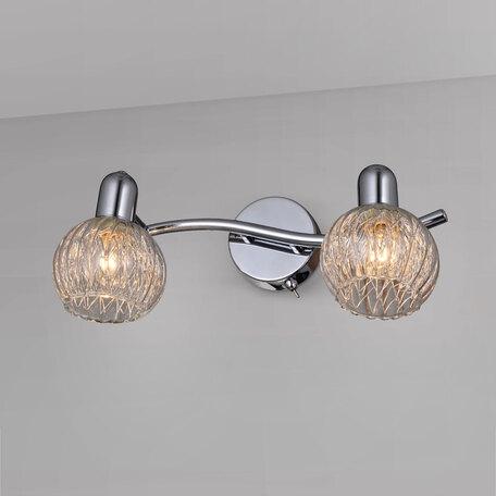 Настенный светильник с регулировкой направления света Citilux Попурри CL604521, 2xE14x60W, хром, белый, металл, стекло - миниатюра 1