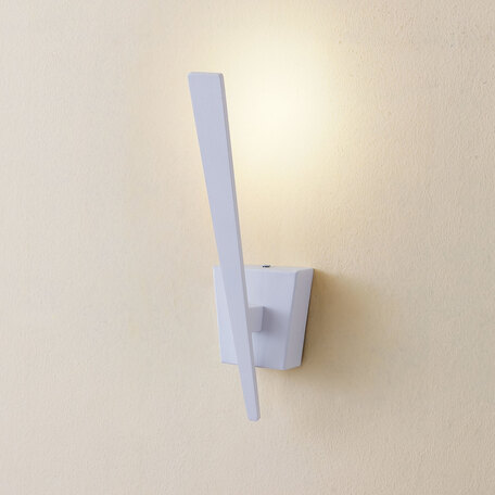 Настенный светодиодный светильник Citilux Декарт-1 CL704010, LED 5W 3000K 375lm, белый, металл