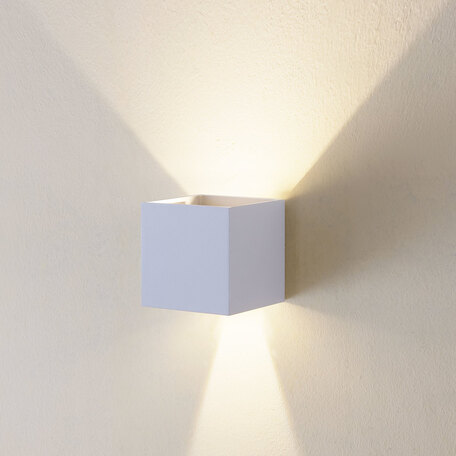 Настенный светодиодный светильник Citilux Декарт CL704060, LED 6W 3000K 450lm, белый, металл