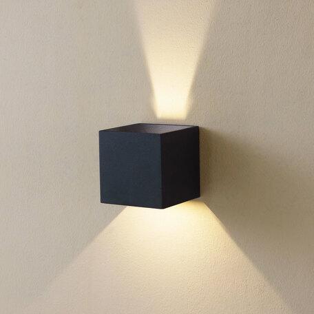 Настенный светодиодный светильник Citilux Декарт CL704061, LED 6W 3000K 450lm, черный, металл