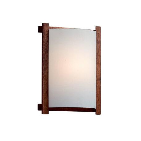 Настенный светильник Citilux Лайн CL921000R, 1xE27x100W, коричневый, белый, дерево, стекло