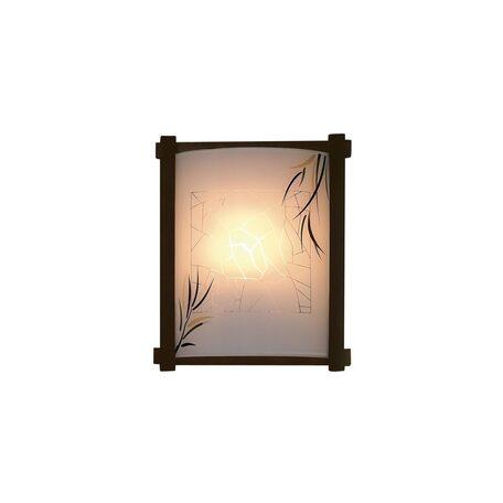 Настенный светильник Citilux Ива CL921009R, 1xE27x100W, венге, белый, дерево, стекло