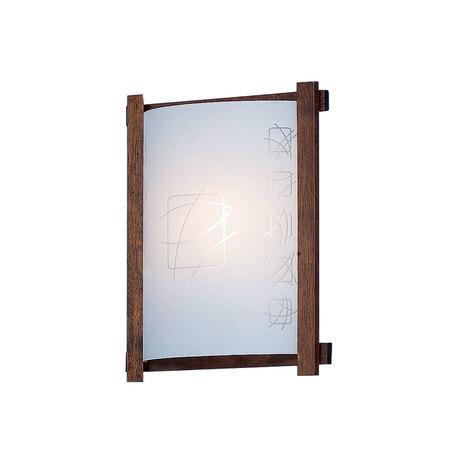 Настенный светильник Citilux Дина CL921021R, 1xE27x100W, коричневый, белый, дерево, стекло