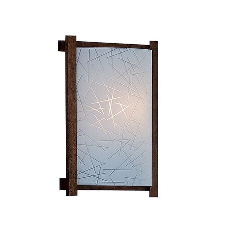 Настенный светильник Citilux Крона CL921061R, 1xE27x100W, коричневый, белый, дерево, стекло