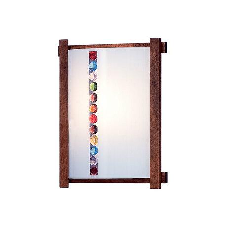 Настенный светильник Citilux Конфетти CL921302R, 1xE27x100W, коричневый, разноцветный, дерево, стекло
