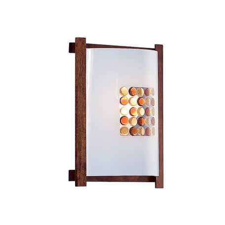 Настенный светильник Citilux Конфетти CL921312R, 1xE27x100W, коричневый, разноцветный, дерево, стекло