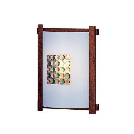 Настенный светильник Citilux Конфетти CL921314R, 1xE27x100W, коричневый, разноцветный, дерево, стекло