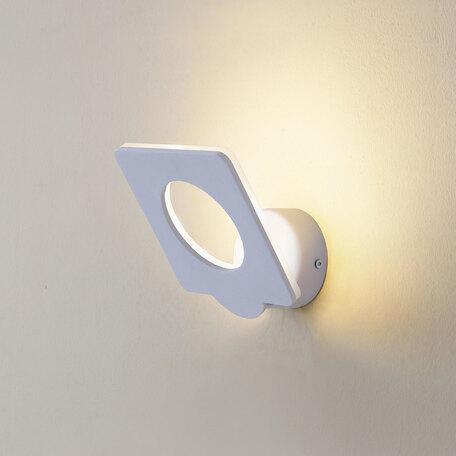 Настенный светодиодный светильник с регулировкой направления света Citilux Декарт-5 CL704050, LED 9W 3000K 675lm, белый, металл - миниатюра 1