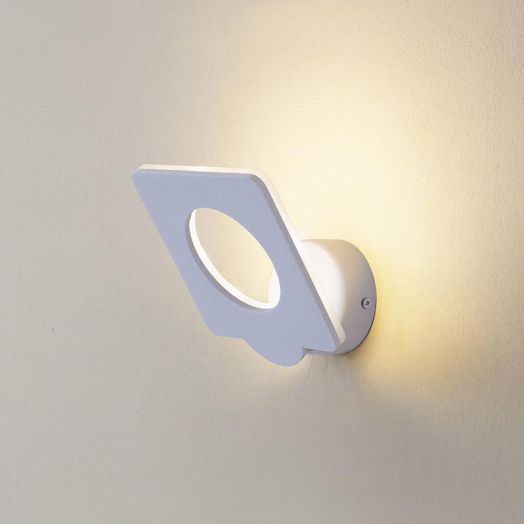Настенный светодиодный светильник с регулировкой направления света Citilux Декарт-5 CL704050, LED 9W 3000K 675lm, белый, металл - фото 1