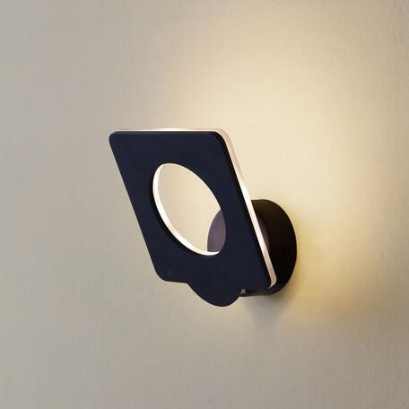 Настенный светодиодный светильник с регулировкой направления света Citilux Декарт-5 CL704051, LED 9W 3000K 675lm, черный, металл