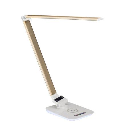 Настольная светодиодная лампа Citilux Ньютон CL803012, LED 6W 3000-5500K + RGB 450lm, матовое золото, пластик, металл с пластиком