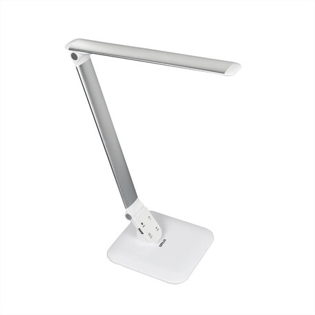 Настольная светодиодная лампа Citilux Ньютон CL803021, LED 7W, 3000-5500K, белый, серебро, металл, пластик