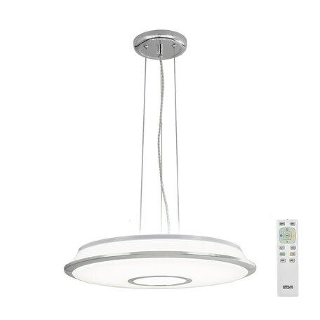 Подвесной светодиодный светильник с пультом ДУ Citilux Старлайт CL70360RS, LED 60W, 3000-4500K, белый, хром, металл, пластик