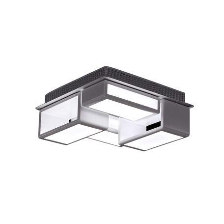 Потолочная светодиодная люстра Citilux Синто CL711060, LED 60W 3000K 4500lm, белый, металл, металл с пластиком