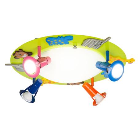 Потолочная люстра с регулировкой направления света Citilux Зоопарк CL602161, 4xE14x60W, разноцветный, металл, металл со стеклом