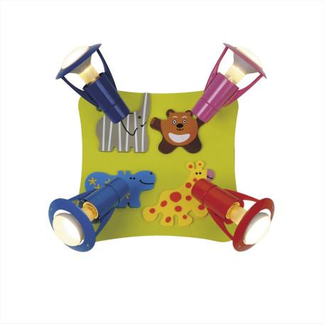 Потолочная люстра с регулировкой направления света Citilux Зоопарк CL602541, 4xE14x60W, разноцветный, металл