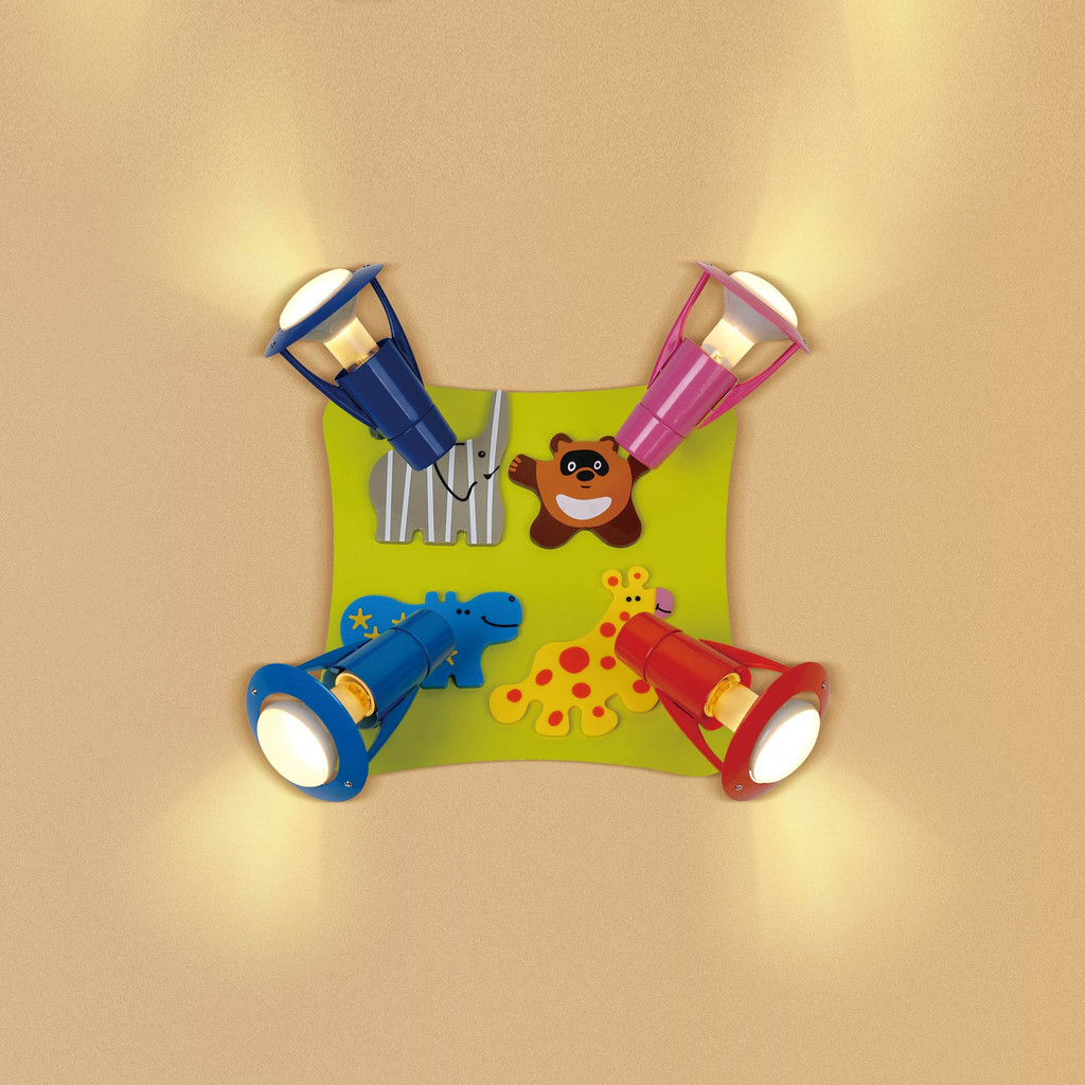 Потолочная люстра с регулировкой направления света Citilux Зоопарк CL602541, 4xE14x60W, разноцветный, металл - фото 1