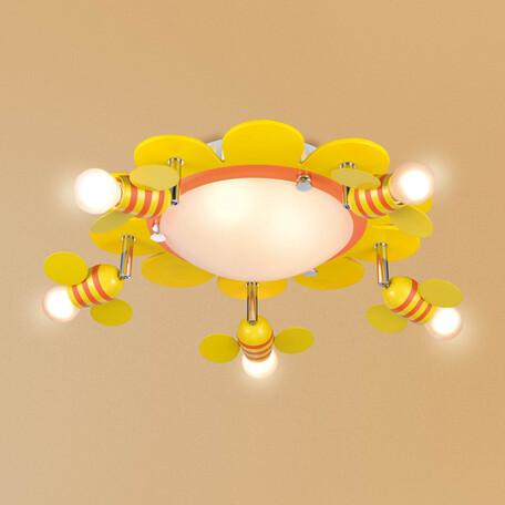 Потолочная люстра с регулировкой направления света Citilux Пчелки CL603173, 7xE14x60W, разноцветный, металл, металл со стеклом