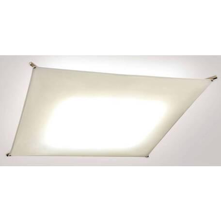 Потолочный светодиодный светильник Citilux Сити-Арт CL701410B, LED 40W 3000K 3000lm, матовый хром, белый, металл, текстиль