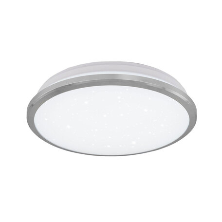 Потолочный светодиодный светильник Citilux Луна CL702161W, IP54, LED 16W 3000K 1200lm, хром, металл с пластиком