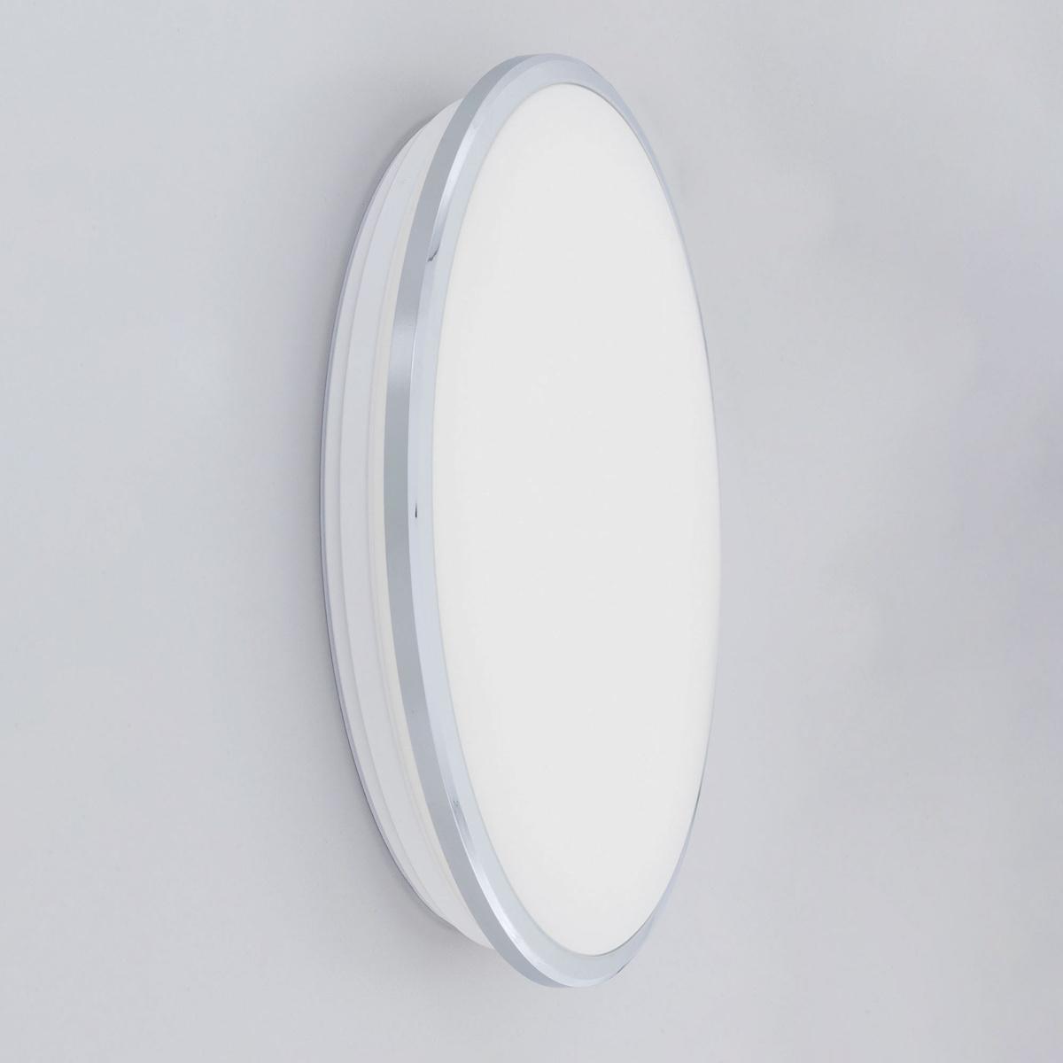 Потолочный светодиодный светильник Citilux Луна CL702301N, IP54, LED 30W 4000K 2200lm, хром, металл с пластиком - фото 2