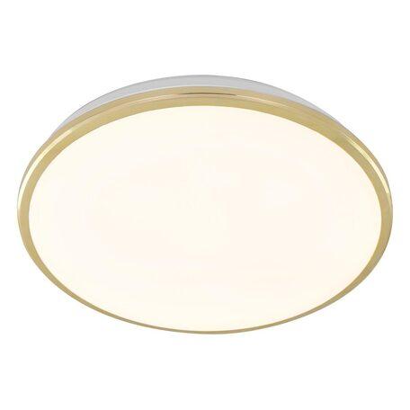 Потолочный светодиодный светильник Citilux Луна CL702302W, IP54, LED 30W 3000K 2200lm, золото, металл с пластиком