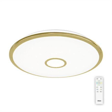 Потолочный светодиодный светильник с пультом ДУ Citilux Старлайт CL703102R, IP44, LED 100W, 3000-4500K, белый, золото, металл, пластик