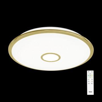 Потолочный светодиодный светильник с пультом ДУ Citilux Старлайт CL703102R, IP44, LED 100W, 3000-4500K, белый, золото, металл, пластик - миниатюра 2