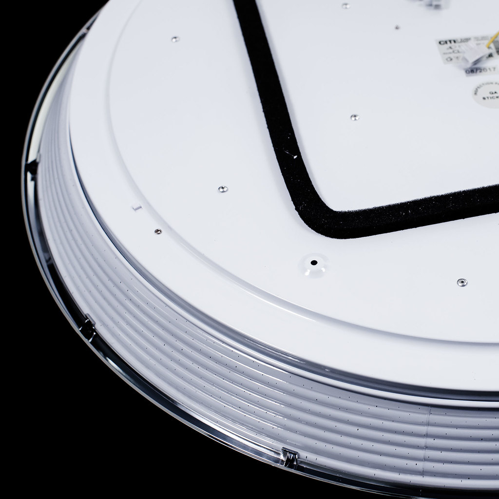 Потолочный светодиодный светильник с пультом ДУ Citilux Старлайт CL703102R, IP44, LED 100W, 3000-4500K, белый, золото, металл, пластик - фото 5