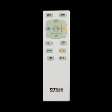 Потолочный светодиодный светильник с пультом ДУ Citilux Старлайт CL703102R, IP44, LED 100W, 3000-4500K, белый, золото, металл, пластик - миниатюра 8