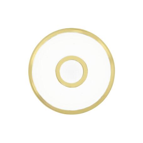 Потолочный светодиодный светильник Citilux Старлайт CL70312, IP44, LED 12W 3000K 800lm, белый, золото, металл, металл с пластиком