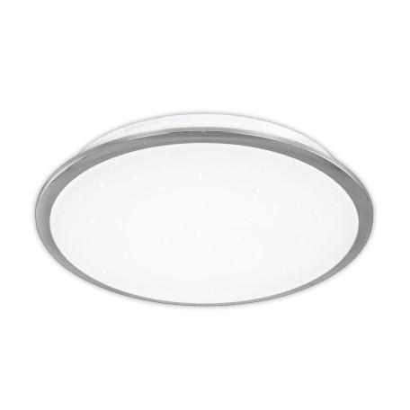 Потолочный светодиодный светильник Citilux Старлайт CL70330, IP44, LED 30W 3000K 1950lm, белый, хром, металл, металл с пластиком