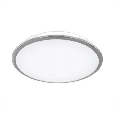Потолочный светодиодный светильник Citilux Старлайт CL70340, IP44, LED 40W 3000K 2600lm, белый, хром, металл, металл с пластиком