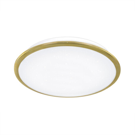 Потолочный светодиодный светильник Citilux Старлайт CL70342, IP44, LED 40W 3000K 2600lm, белый, золото, металл, металл с пластиком